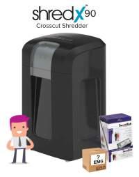 ShredX90 Shredder Deal Comprising:-