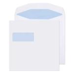 220 x 220 White Window self -seal Envelope