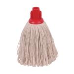 2Work 12oz Twine Rough Mop Red Pk10