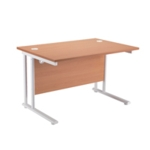 FR FIRST RECT CANT DESK 1600 BEECH WHITE