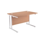 FR FIRST RECT CANT DESK 1600 OAK WHITE