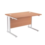 FR FIRST RECT CANT DESK 1800 BEECH WHITE
