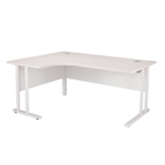 FR FIRST RAD LH CANT DESK 1800 WHITE WL