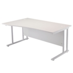 FR FIRST WAVE LH CANT DESK 1600 WHITE WL