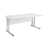 FR FIRST RECT CANT DESK 1600 WHITE