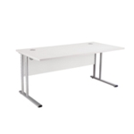 FR FIRST RECT CANT DESK 1800 WHITE