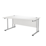 FR FIRST WAVE LH CANT DESK 1600 WHITE