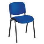 FR FIRST STACKING CHAIR BLUE BLACK FRAME