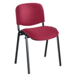 FR FIRST STACKING CHAIR CLARET BLK FRAME