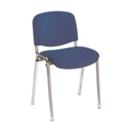 FR FIRST STACKING CHAIR BLUE CHRM FRAME