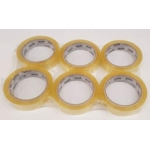 "1"" Clear Tape 25mm x 66M ** PACK 6 **"