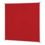 Notice Board Aluminium Frame 1200X1200mm Red