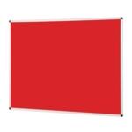Notice Board Aluminium Frame 1200X900mm Red