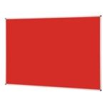 Notice Board Aluminium Frame 1800X1200mm Red