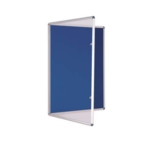 Premium Tamperproof Lockable Notice Board 600 X 900mm Blue