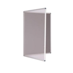 Premium Tamperproof Lockable Notice Board 600 X 900mm Grey