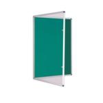Premium Tamperproof Lockable Notice Board 900 X 900mm Green