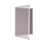 Premium Tamperproof Lockable Notice Board 900 X 900mm Grey