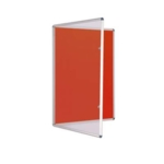 Premium Tamperproof Lockable Notice Board 1200 X 900mm Red
