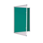 Premium Tamperproof Lockable Notice Board 1200X1200mm Green