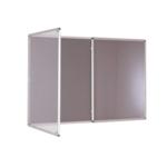 Premium Tamperproof Lockable Notice Board 1200X1800mm Grey
