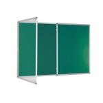 Premium Tamperproof Lockable Notice Board 1200X2400mm Green