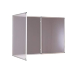 Premium Tamperproof Lockable Notice Board 1200X2400mm Grey