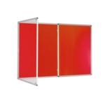 Premium Tamperproof Lockable Notice Board 1200X2400mm Red