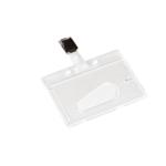QConnect Rigid Badge Holder Clip Pk10