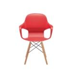 FF ARISTA CAFE BISTRO CHAIR RED