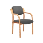FF Jemini Char Wood Frame Arm Chair