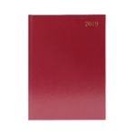 Burgundy Desk A4 Diary Week/View 2019