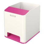 Leitz WOW Sound Booster Pen Holder Pink
