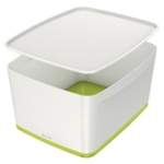 Leitz MyBox Lrg With Lid White Green