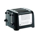 Dualit 4 Slice HGloss Lite Toaster Black