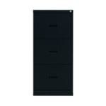 FR Talos 3 Drawer Filing Cabinet Black