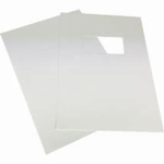 Rexel Binding Covers White ,Window 46715
