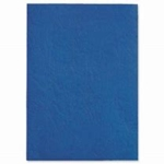 Leathergrain Binding covers A4 Blue Plain