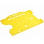 Card Holder Single Sided Landscape Yellow