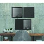 Bi-Office Blk Shadow Messg Board Pk3