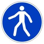 Durable Use Walkway Floor Sign