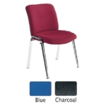 FF Avior Conference HB Chrome Chair Blue