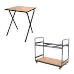 FF JEMINI MDF EXAM DESK + TROLLEY BUNDLE
