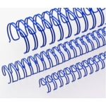 Binding Wires A4 34-loop 6mm Blue