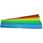 """Rulers 12""""/30cm Assorted Colours pk100"""
