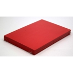 A4 Card 340 Micron Red