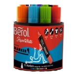 Berol Colour Markers Assorted Chisel Tip