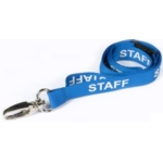 Pre Printed Breakaway Lanyard 15mm - Staff - Blue