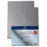 Metallic Card Silver Sheets A4