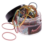 Necessities Tubs Rubber Bands Assorted  Pk100g